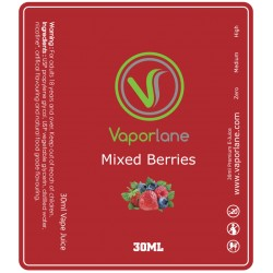 Mixed Berries Red Label E-Liquid